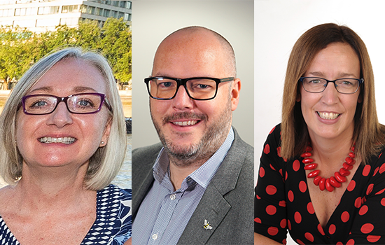 Three new trustees of the printing charity, two females and one male