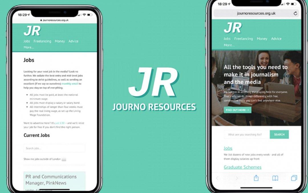 journalism, website, phones, logo