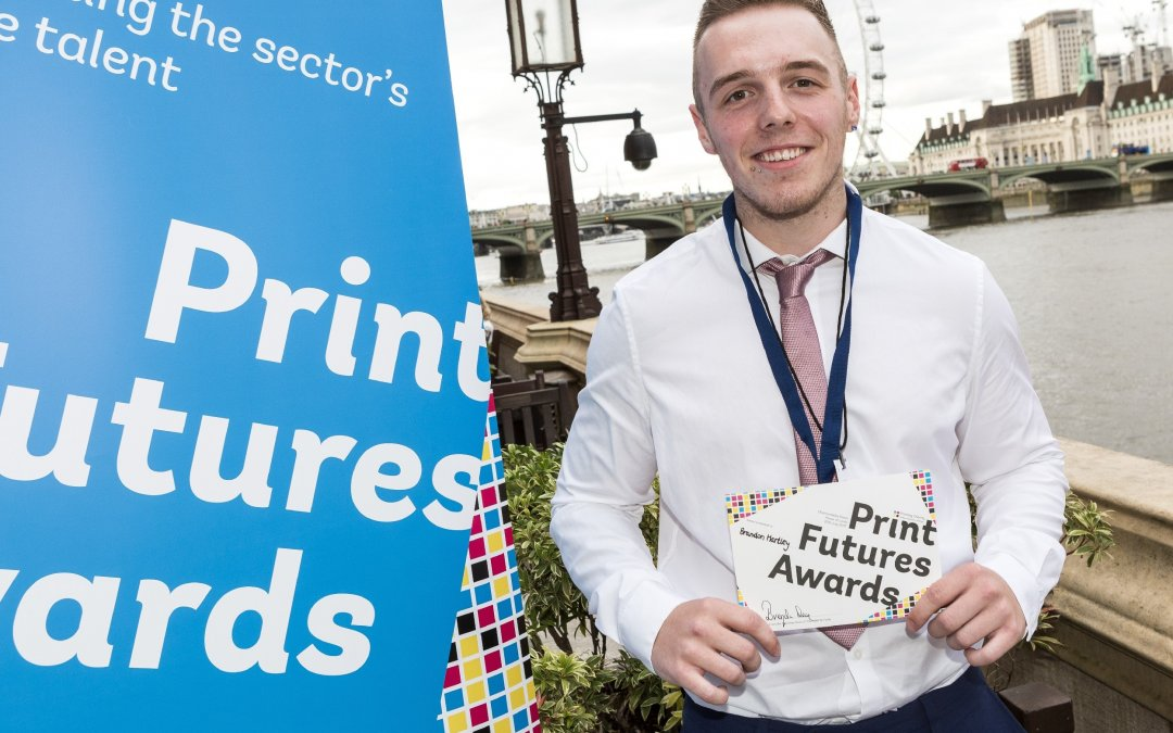 Print Futures Awards winner on the terrace at the House of Lords