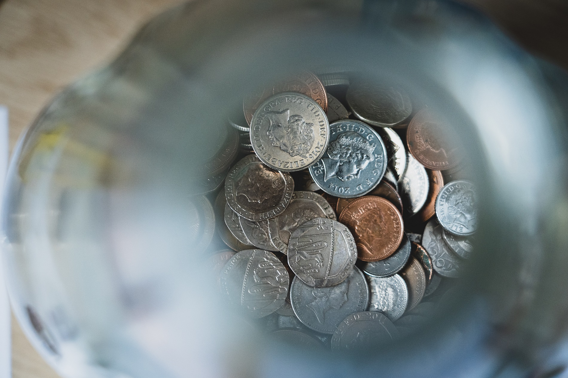 coins in a jar, money