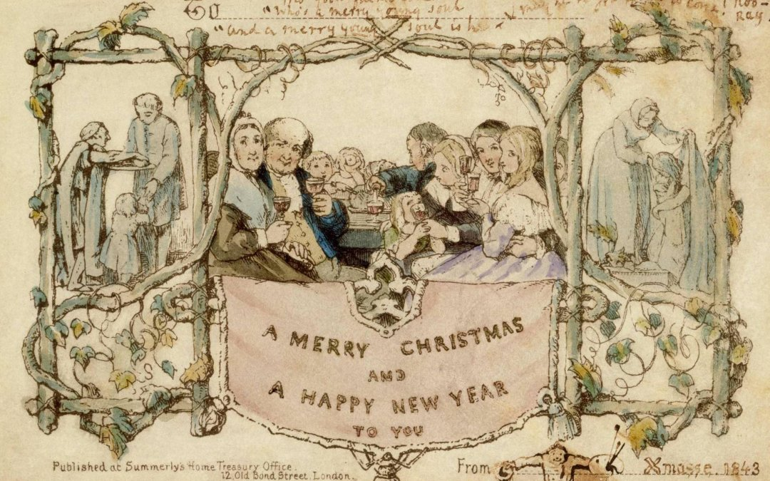 Greetings card, John Callcott Horsley, 1843, England. Museum no. MSL.3293-1987. © Victoria and Albert Museum, London.