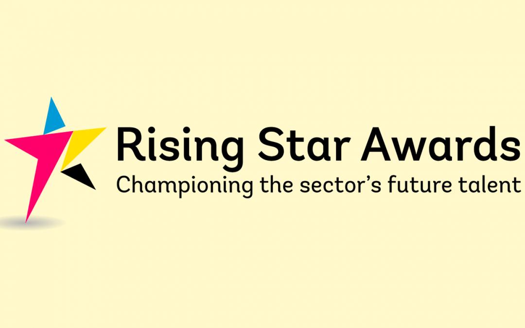 rising star awards logo printing paper publishing