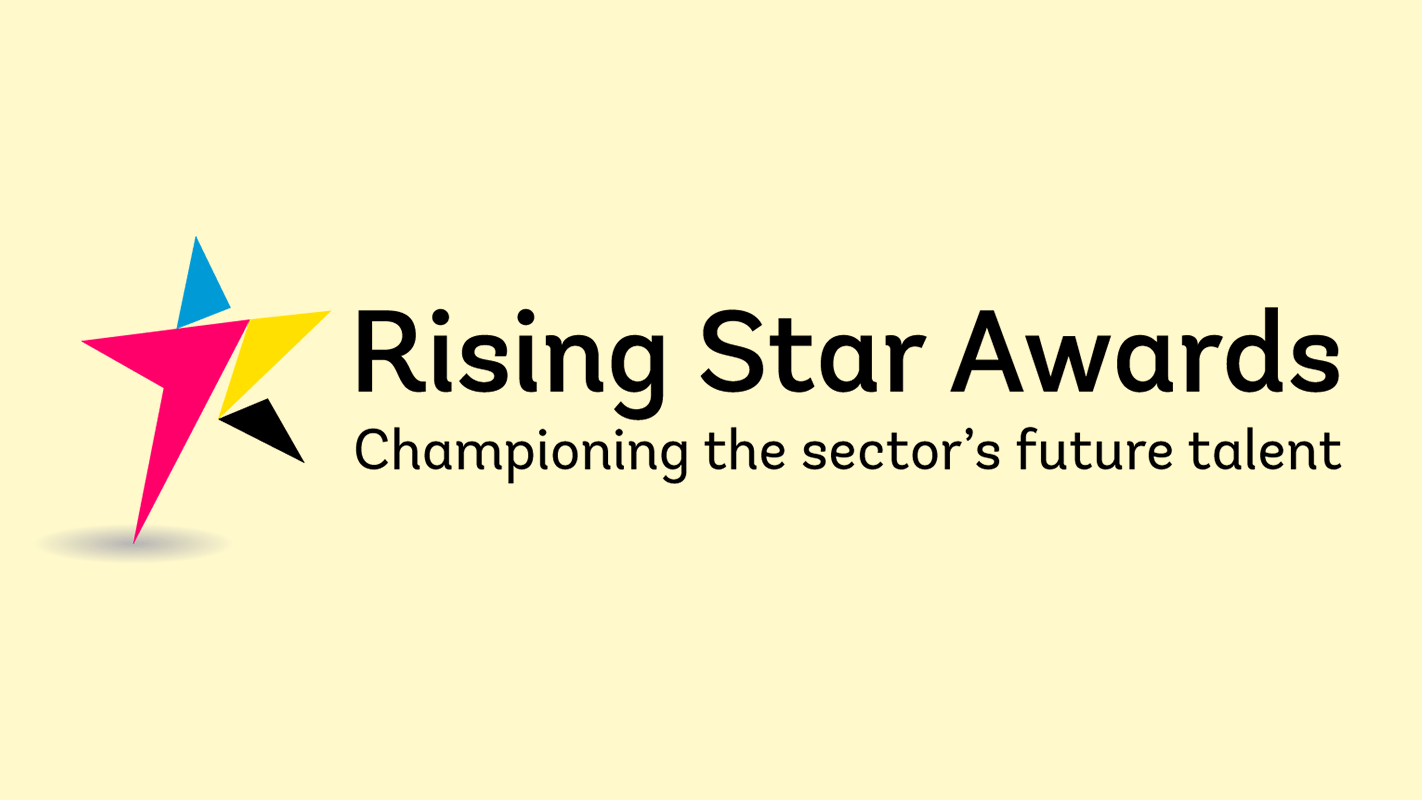 rising star awards logo printing paper publishing