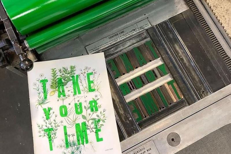 take your time print